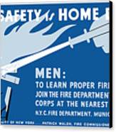 Home Safety Is Home Defense Canvas Print by War Is Hell Store