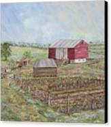 Homeplace - The Barn And Vegetable Garden Canvas Print
