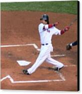 Homerun Swing Canvas Print by Kevin Fortier