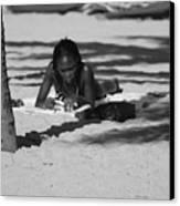 Homework At The Hollywood Beach Canvas Print