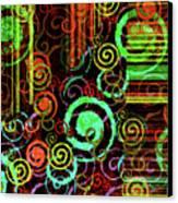 Hoopla Canvas Print by Bonnie Bruno