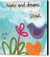 Hopes And Dreams Soar Canvas Print by Linda Woods