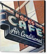Hope's Cafe Canvas Print