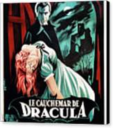 Horror Of Dracula Aka Le Cauchemar De Canvas Print