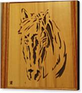 Horse Head Canvas Print by Russell Ellingsworth