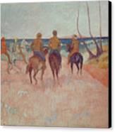 Horseman On The Beach Canvas Print by Paul Gauguin