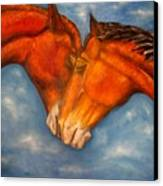 Horses In Love.oil Painting Canvas Print