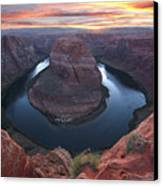 Horseshoe Bend Sunset Canvas Print by Loree Johnson