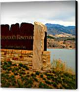 Horsetooth Peak Above The Reservoir Canvas Print by Aaron Burrows