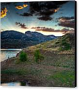 Horsetooth Reservior At Sunset Canvas Print by James O Thompson