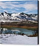 Horsetooth Reservoir Canvas Print by Harry Strharsky