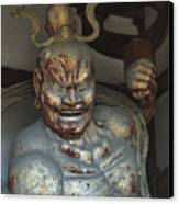 Horyu-ji Temple Gate Guardian - Nara Japan Canvas Print