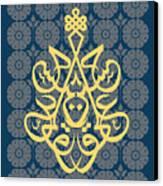 Hossein--blue Mod Canvas Print by Misha Maynerick Blaise