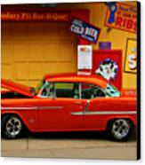 Hot Rod Bbq Canvas Print by Perry Webster