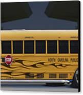 Hot Rod School Bus Canvas Print by Mike McGlothlen
