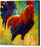 Hot Shot - Rooster Canvas Print by Marion Rose