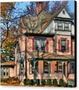 House - I Want That Big Pink House Canvas Print by Mike Savad