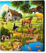 House Animals Canvas Print by Anne Wertheim