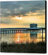 House At The End Of The Pier Canvas Print by Steven Ainsworth