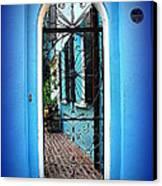 House Door 4 In Charleston Sc  Canvas Print by Susanne Van Hulst