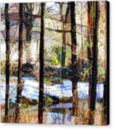 House Surrounded By Trees 2 Canvas Print