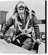 Howard Hughes Emerging From An Airplane Canvas Print