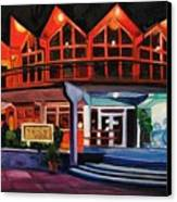 Howard Johnsons At Night Canvas Print