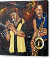 Hud N Lew/ The Daddyo Brothers Canvas Print