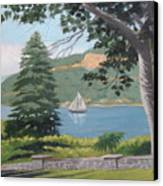 Hudson River Schooner Canvas Print