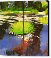 Hughes Water Garden Canvas Print