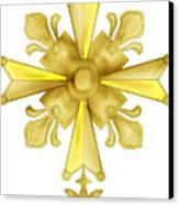 Huguenot Golden Cross Canvas Print