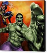Hulk Canvas Print by Pete Tapang