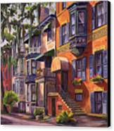 Hull Street In Chippewa Square Savannah Canvas Print
