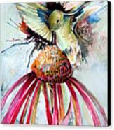 Humming Bird Canvas Print by Mindy Newman