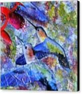 Hummingbird Joy Canvas Print