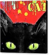 humorous Black cat painting Canvas Print by Svetlana Novikova