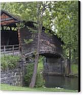 Humpback Covered Bridge In Covington Virginia Canvas Print by Brendan Reals