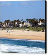 Huntington Beach California Canvas Print by Paul Velgos
