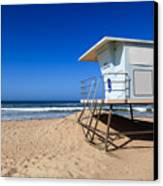 Huntington Beach Lifeguard Tower Photo Canvas Print by Paul Velgos
