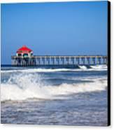 Huntington Beach Pier Photo Canvas Print by Paul Velgos