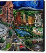 Huntsville Skyline Canvas Print by Carole Foret