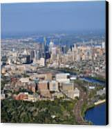 Hup And Chop Hospitals And Philadelphia Skyline Canvas Print
