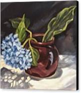 Hydrangea In A Bean Pot Canvas Print