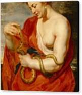 Hygeia - Goddess Of Health Canvas Print by Peter Paul Rubens