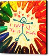 I Luv U This Much Canvas Print by Wingsdomain Art and Photography