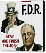 I Want You Fdr  Canvas Print