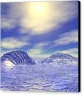 Ice Caps Canvas Print