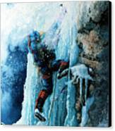 Ice Climb Canvas Print by Hanne Lore Koehler