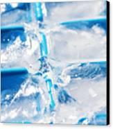 Ice Cubes Canvas Print by Carlos Caetano
