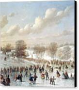 Ice Skating, 1865 Canvas Print by Granger